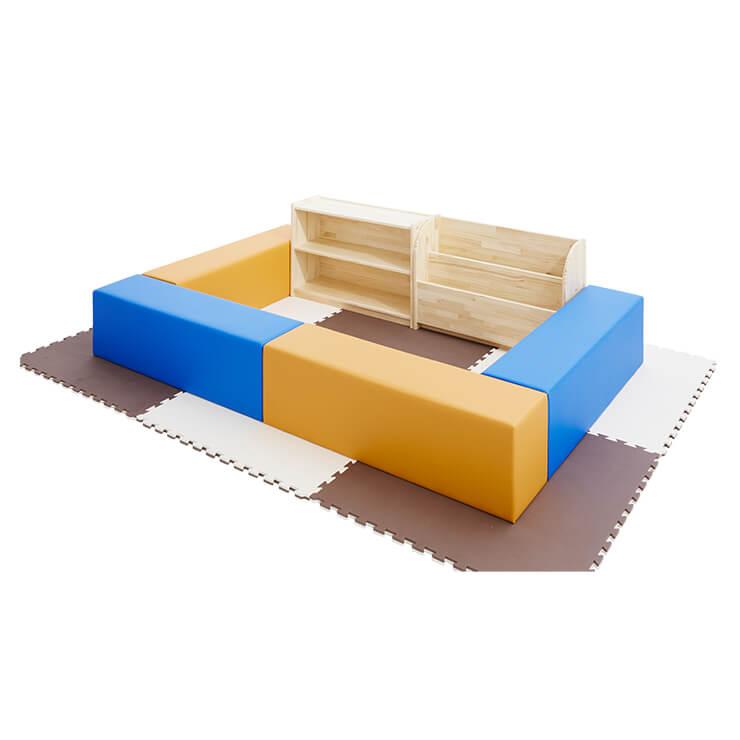 キッズコーナーセット<br>W900絵本棚、オープン棚付