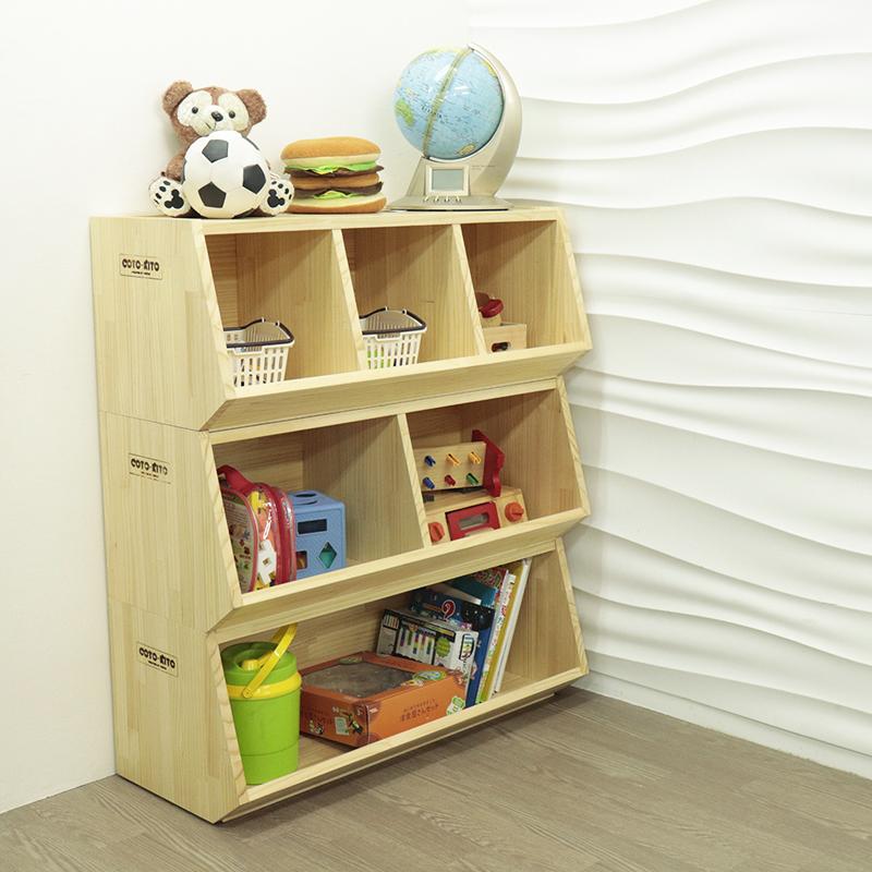 スタック木製棚(2分割タイプ) -4